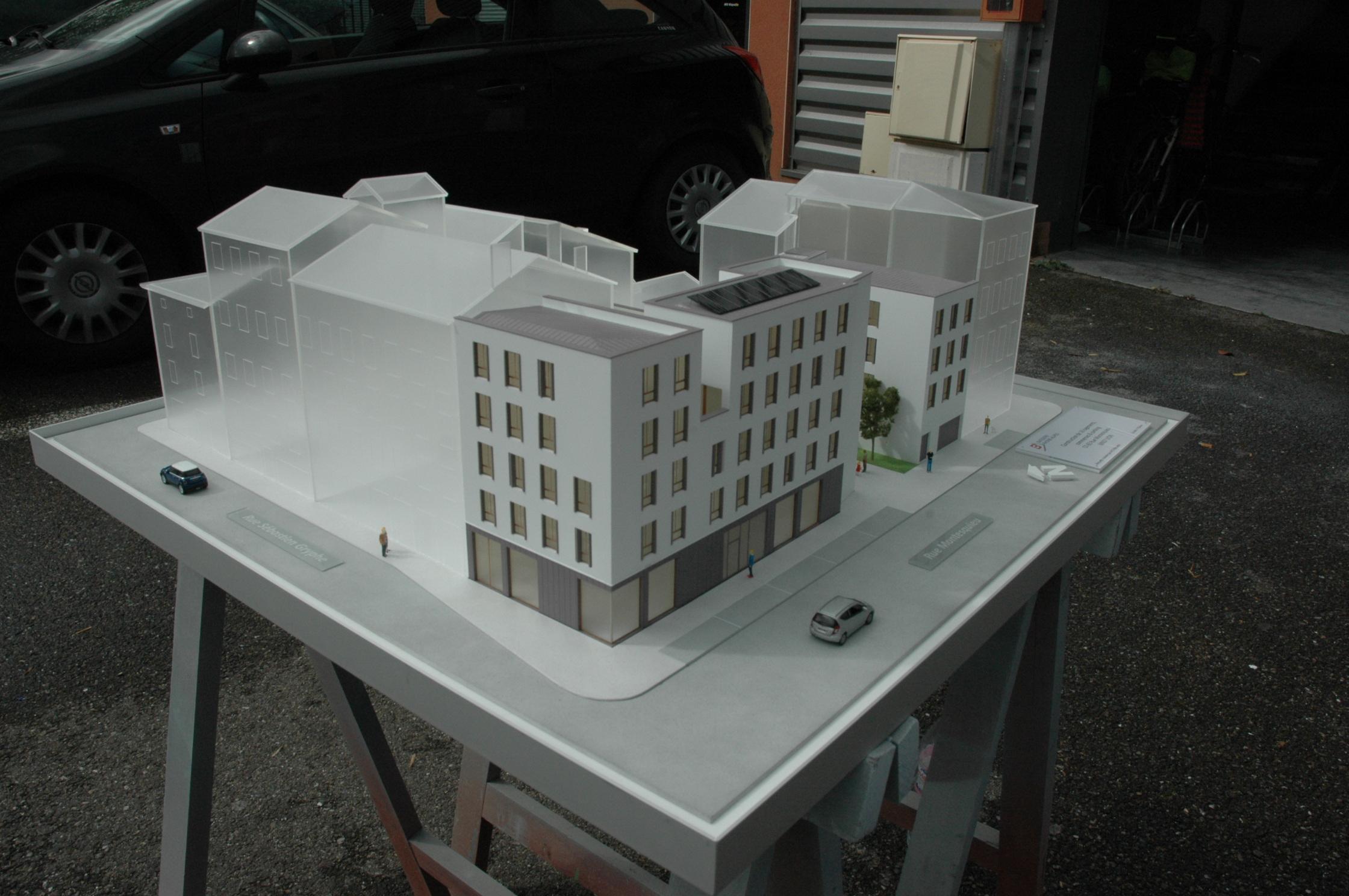 maquette immeubles