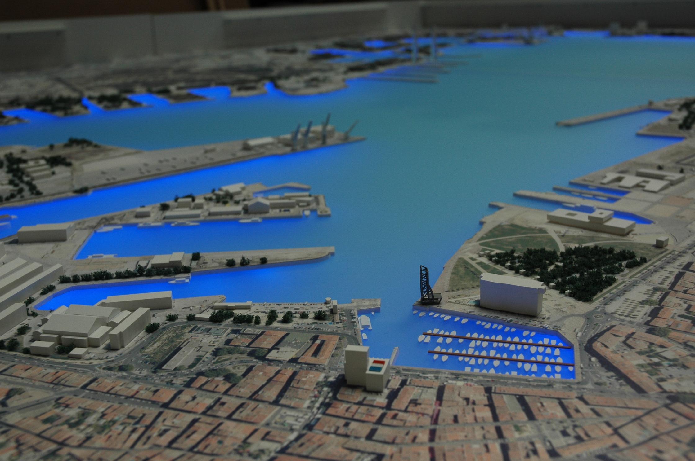 maquette Rade de Toulon