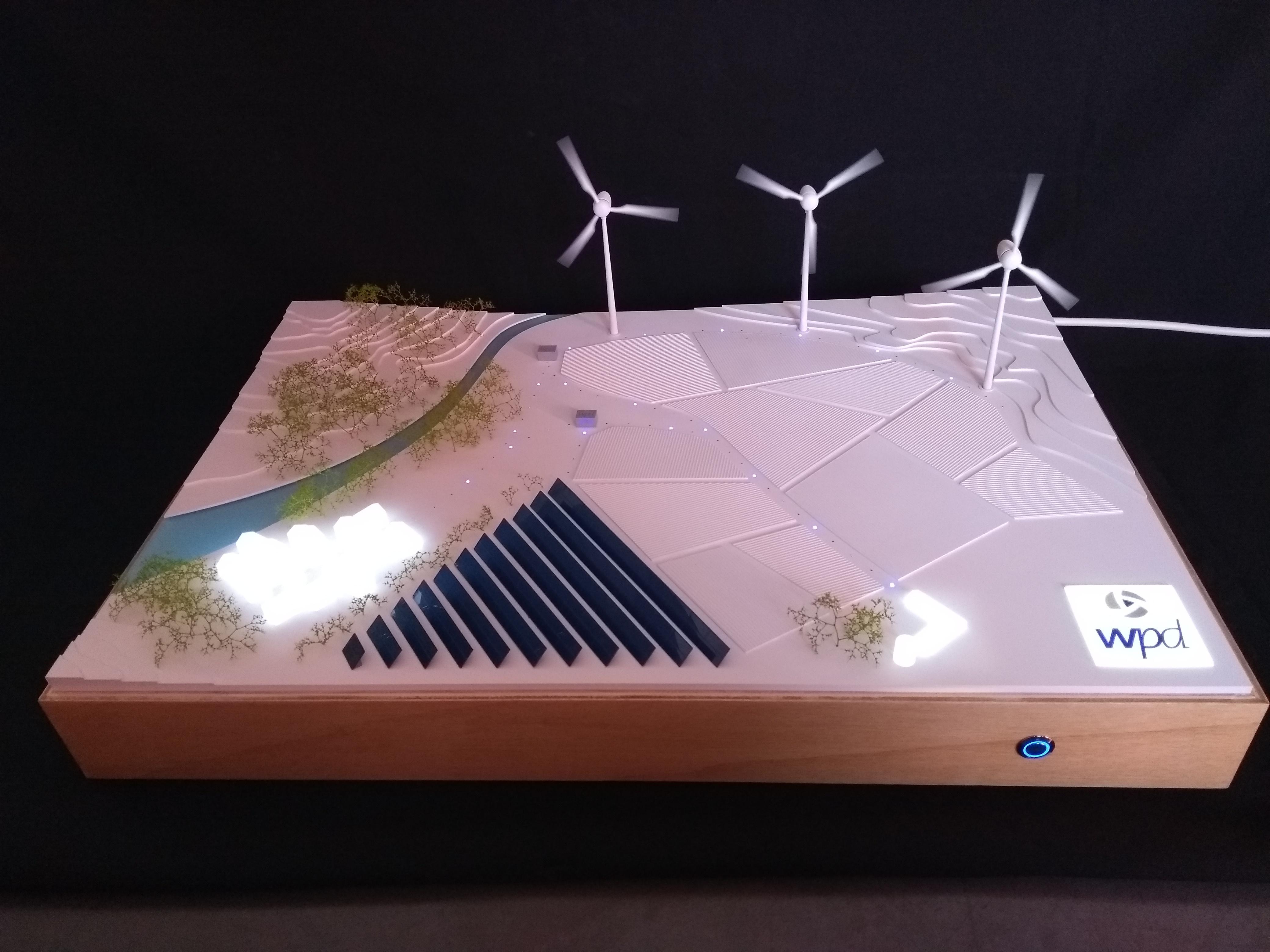 Maquette eolienne photovoltaïque