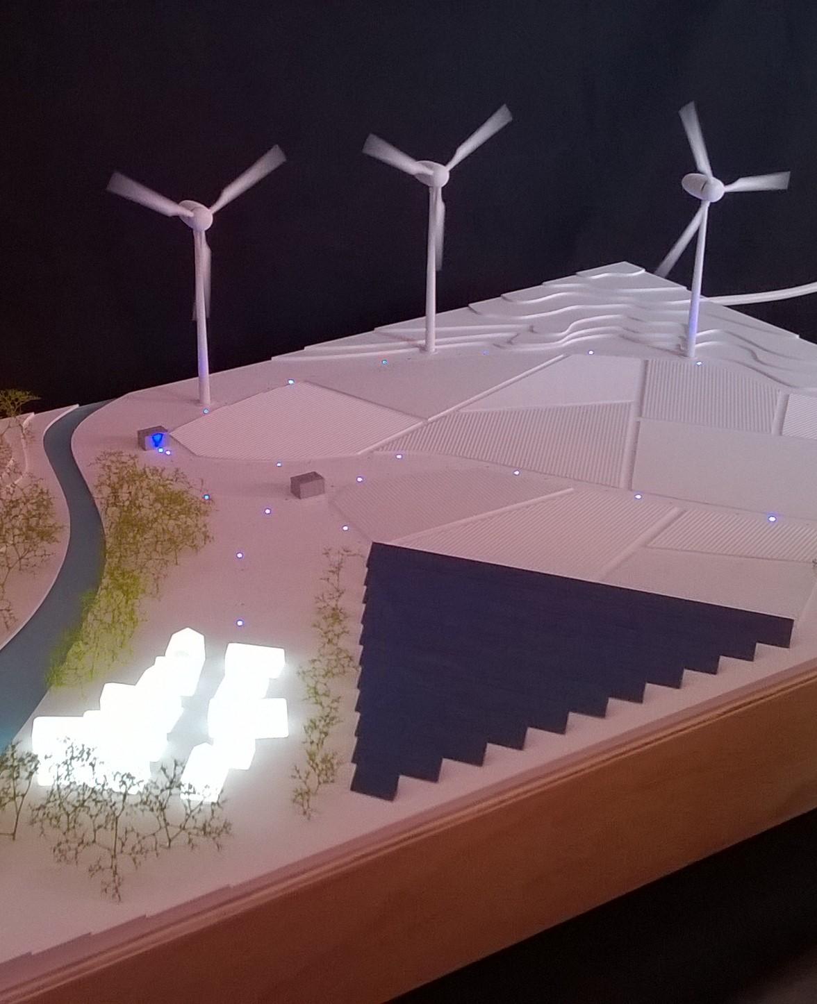 WPD Solar France - Maquette principe énergie photovoltaïque et éolienne