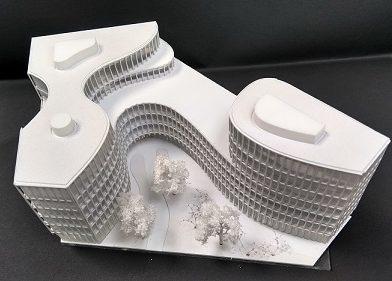 maquette concours architecture lyon carrée de soie
